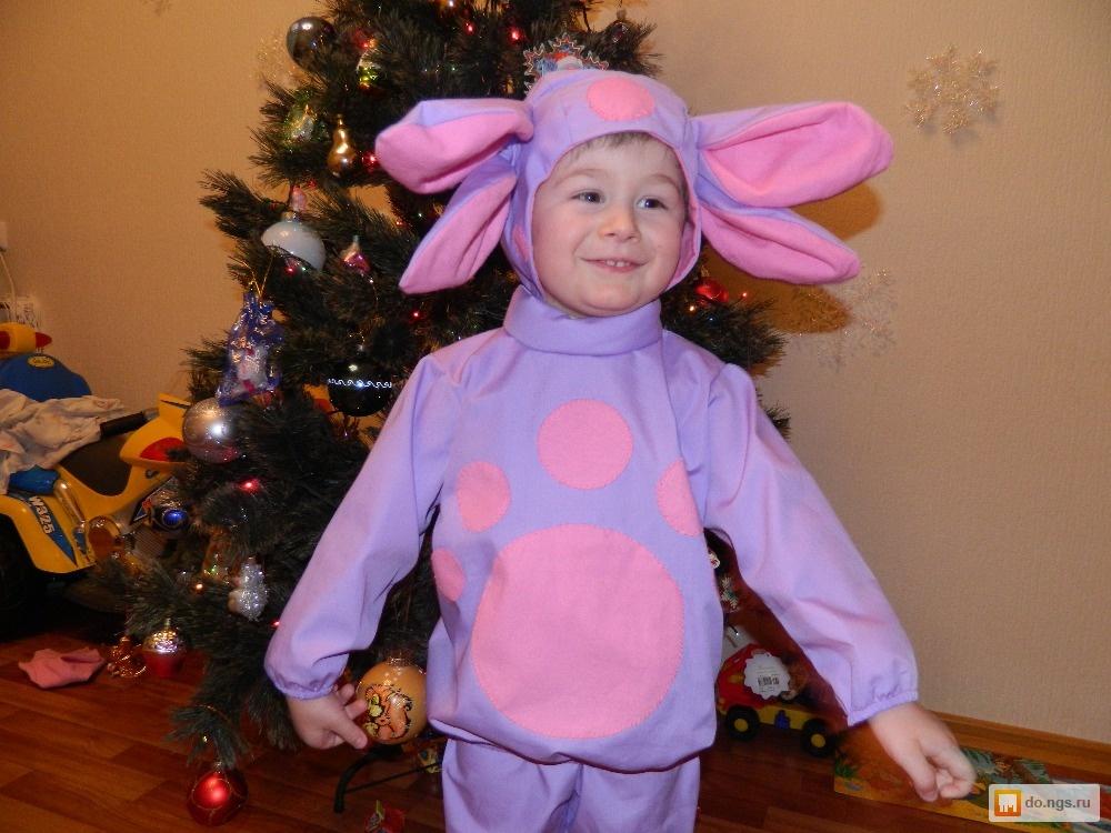 Новогодний костюм лунтика для мальчика своими руками