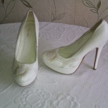 Туфли свадебные  с вышивкой из бисера 38 р., Новосибирск