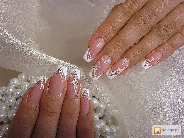 Дизайн гелевых ногтей свадебные