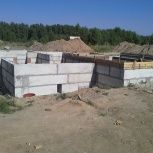 Заливаем фундаменты, монтируем блоки. Кладем кирпич, сибит, Новосибирск