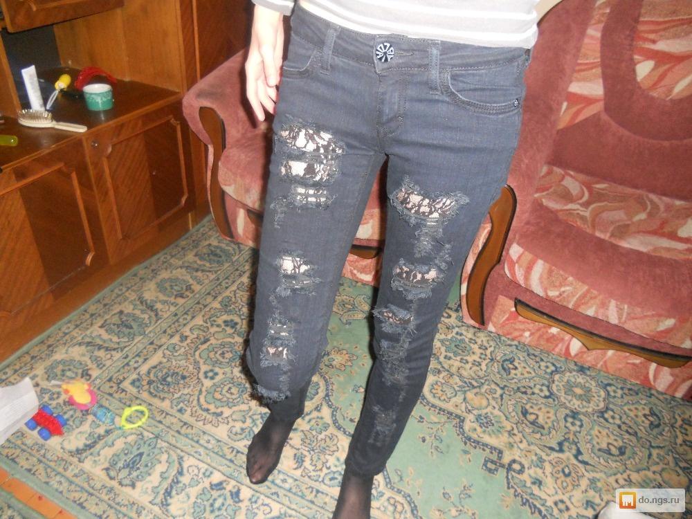 Гипюр на джинсах