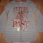Продам блузку для беременной серая в полоску цвета, р.42-44, новая, Новосибирск