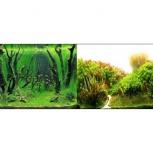 Аквариумный фон  Коряги с растениями/Растительные холмы 60 см, Новосибирск
