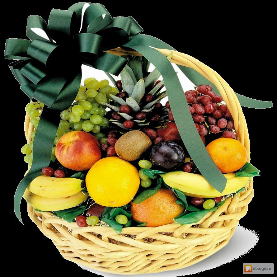 Корзина фруктов в подарок своими руками