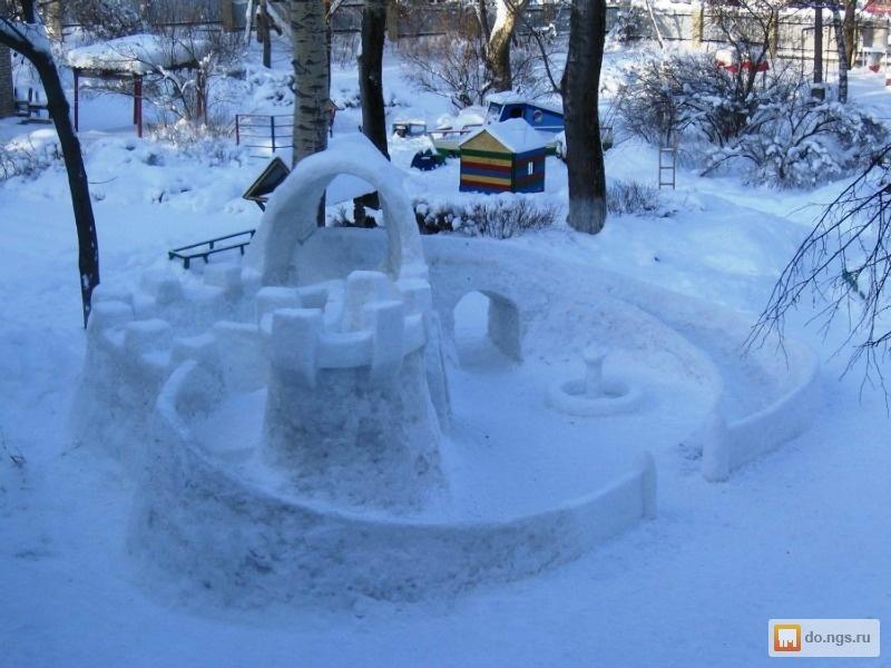 Как сделать горку из снега для детей