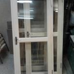 Деревянная дверь производство стеклопакет  м2, Новосибирск