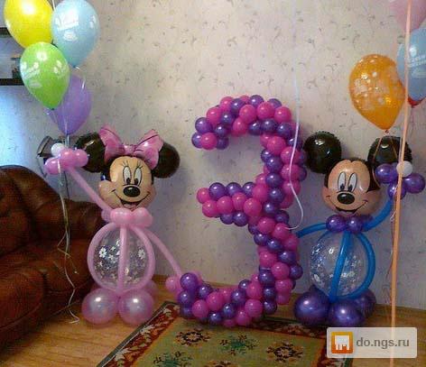 Как из шариков сделать цифру своими руками на день 12