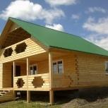 Двухэтажный дом из профилированного бруса 9х8.5м, s=100кв.м., Новосибирск
