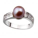 Серебряное кольцо De Luna с жемчугом и фианитами, Новосибирск