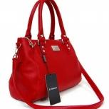 Стильная красная сумка из натуральной кожи, Новосибирск