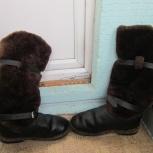 Продам унты из натуральной кожи и натурального меха., Новосибирск