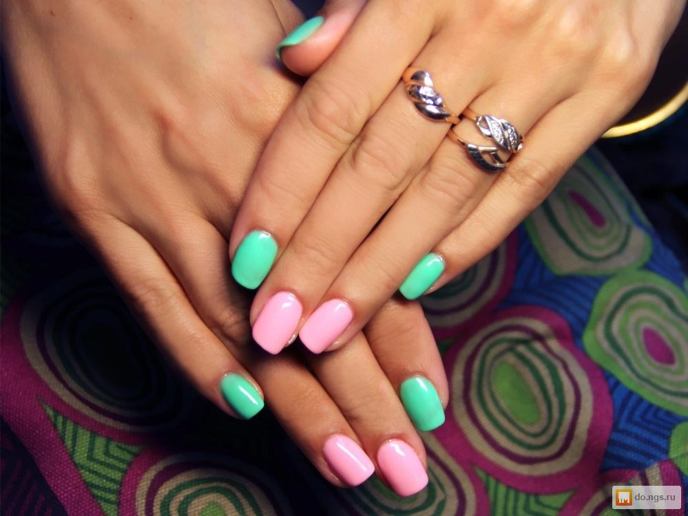 Гель лак ногти однотонный