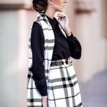 стильная юбка в клетку, Новосибирск