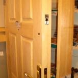 Дверь входная деревянная толстая производство по размерам,цена за  М2, Новосибирск