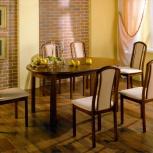 Стол и стулья Поло из массива дуба, Новосибирск