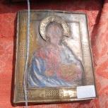 Икона старинная в окладе Господь Вседержитель, Новосибирск