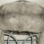 Шапка - голубая норка, новая, размер 55/56, мех не крашен. Недорого, Новосибирск