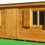 Бытовка деревянная для дачи 4*2,5, Новосибирск