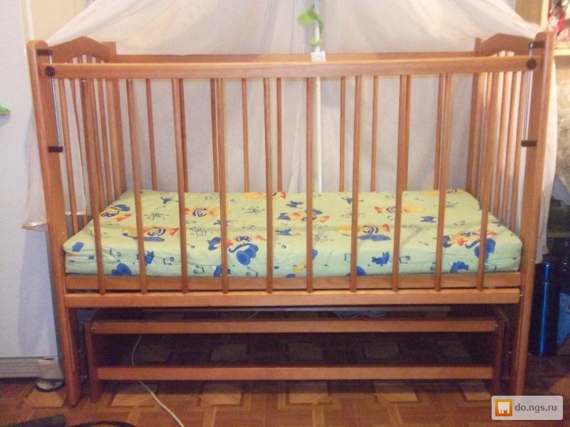 Детская кровать маятник фото