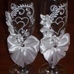Декоративные бокалы ручной работы для свадьбы в ассортименте, Новосибирск