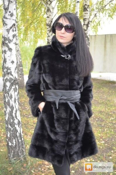 Черная Норковая Шуба