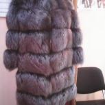 Шуба из меха лисы. Индивидуальный пошив, Новосибирск
