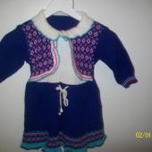 Платье теплое для девочки 1-2 года, Новосибирск