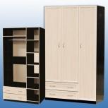 Шкаф для платья и белья 3-дверный! новое! доставка! сборка!, Новосибирск