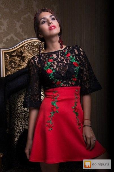 Дизайн платьев из гипюра