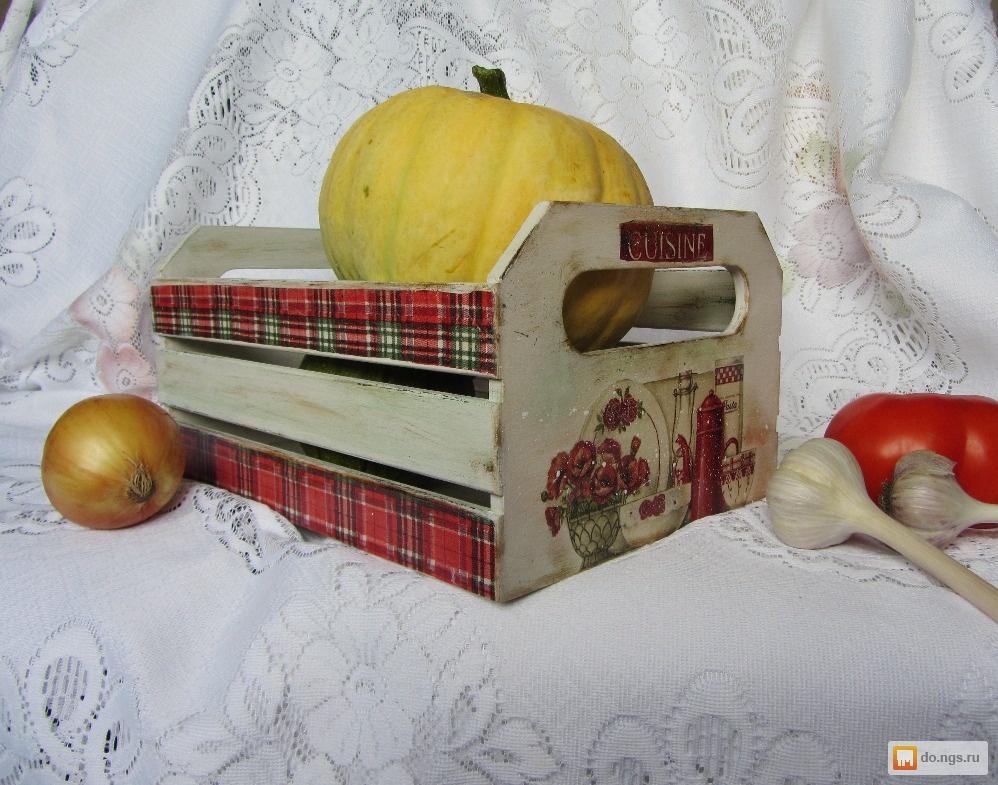 Короба для кухни декупаж