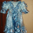 Платье нарядное на девочку 5-7 лет, длина примерно 75см, Новосибирск