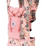 Слинг-рюкзак копия Эрго (розовый, цветы), Новосибирск