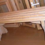 Деревянная скамейка, массивные столы сосна, на заказ и в наличии, Новосибирск
