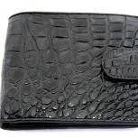 Мужской кошелёк из крокодила на хлястике, Новосибирск