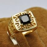 """Мужское позолоченное кольцо """"Джон"""", Новосибирск"""
