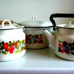 Новый набор эмалированной посуды, Новосибирск