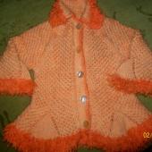 Платье-пальто  ручной вязки для девочки 1 года, Новосибирск