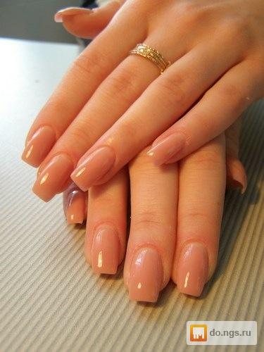Наращивание ногтей без покрытия
