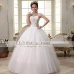 очень красивое свадебное платье (новое), Новосибирск
