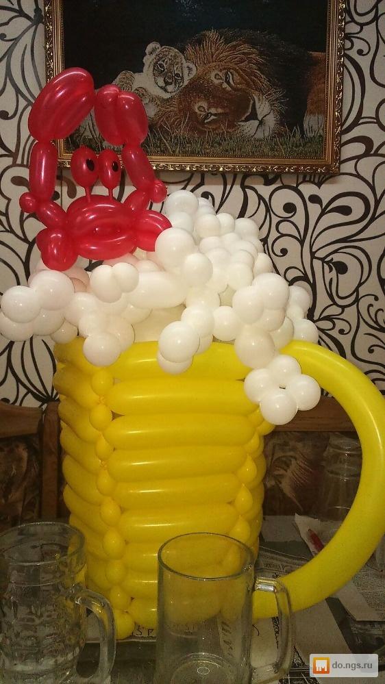 Подарок для мужчины из воздушных шаров 68