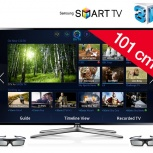 40'' (102см) Samsung UE40F6400 LED 3D 200Hz Wi-Fi SMART FHD DVB-T2, Новосибирск