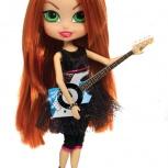 """Кукла """"Роскошные волосы"""" Lark высота 31 см с гитарой в комплекте, Новосибирск"""