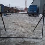 Заборные секции из сетки-рабица на каркасе из уголка 40*40, Новосибирск