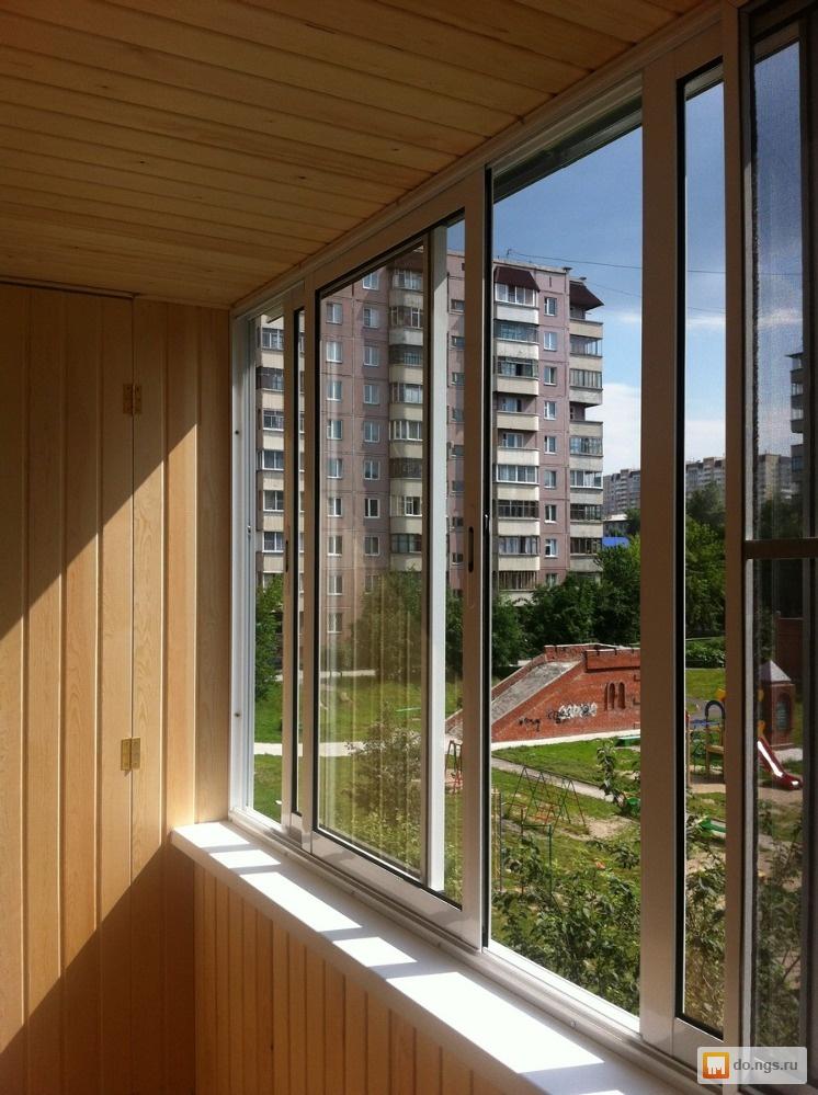 Фото работ по остеклению и обшивке балконов и лоджий.