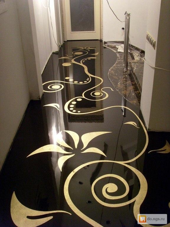 Рисунки на полу в квартире своими руками 42