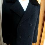 Пальто зимнее мужское с каракулевым воротником, Новосибирск