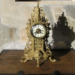 Часы каминные, бронза, Франция ХIХ век, Новосибирск