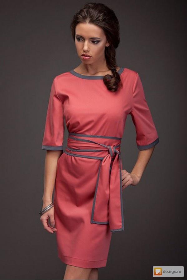 Фото платье с поясом