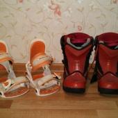 Продам крепеж, крепление и ботинки для сноуборда, 39 размер, Новосибирск