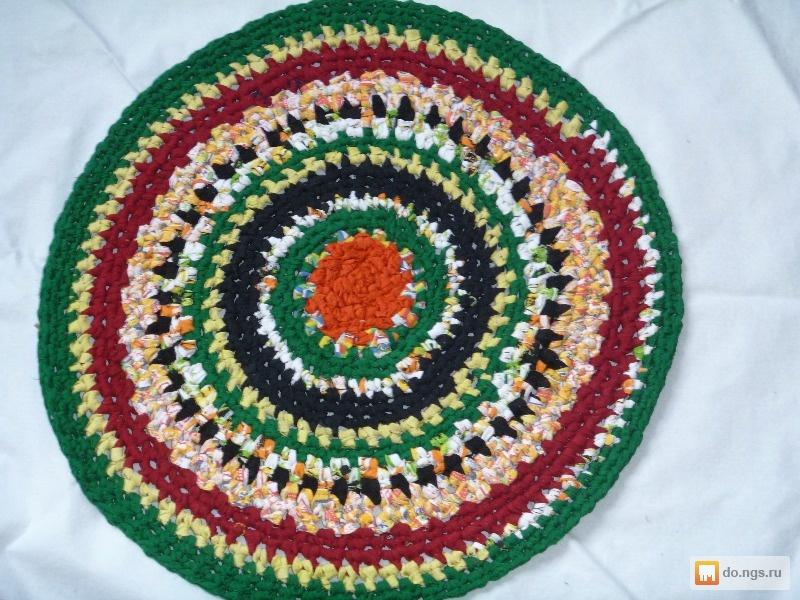 Мастер класс вязания круглого коврика 12